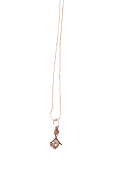 Silver plated diamante chain/necklace