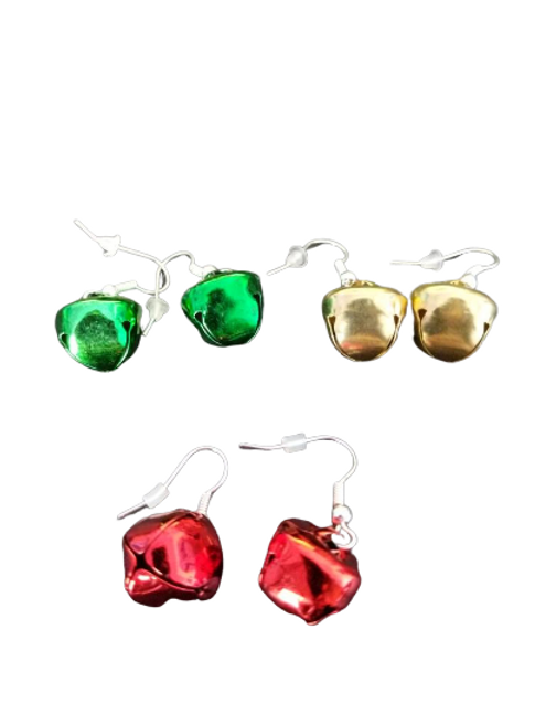 Sterling silver/silver plated jingle bell Christmas earrings