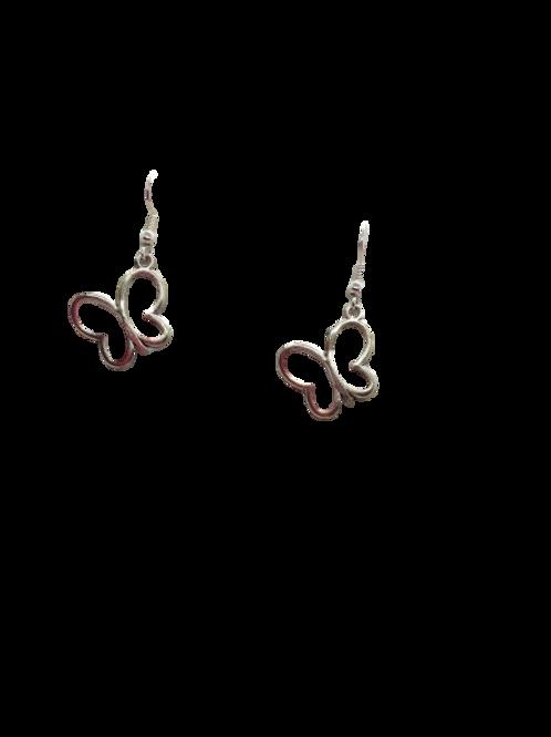 butterfly earrings/silver butterfly earrings/sterling silver butterfly earrings