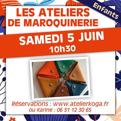 Atelier Mercredi 5 Juin - 10h30 - 11h30