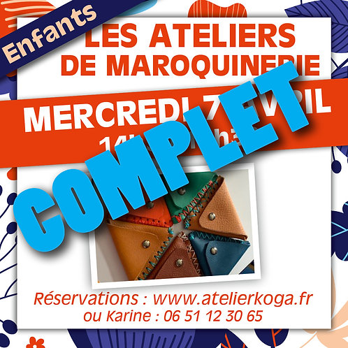 Atelier Mercredi 14 Avril - 14h30-15h30