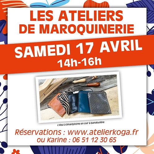 Atelier Sam. 17 Avril 14h-16h