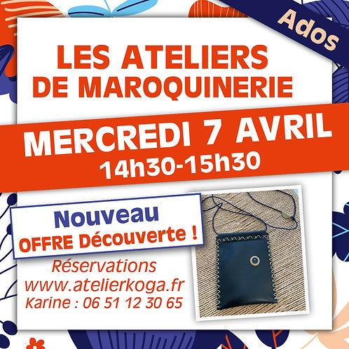 Atelier Mercredi 7 Avril - 14h30-15h30