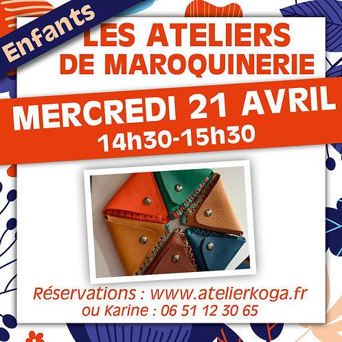 Atelier Mercredi 21 Avril - 14h30-15h30