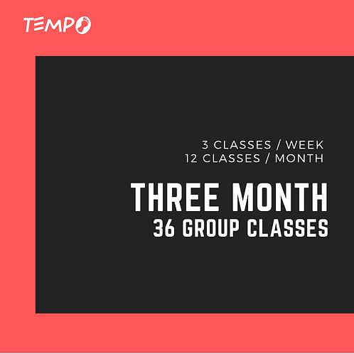 Three Month - 36 classes
