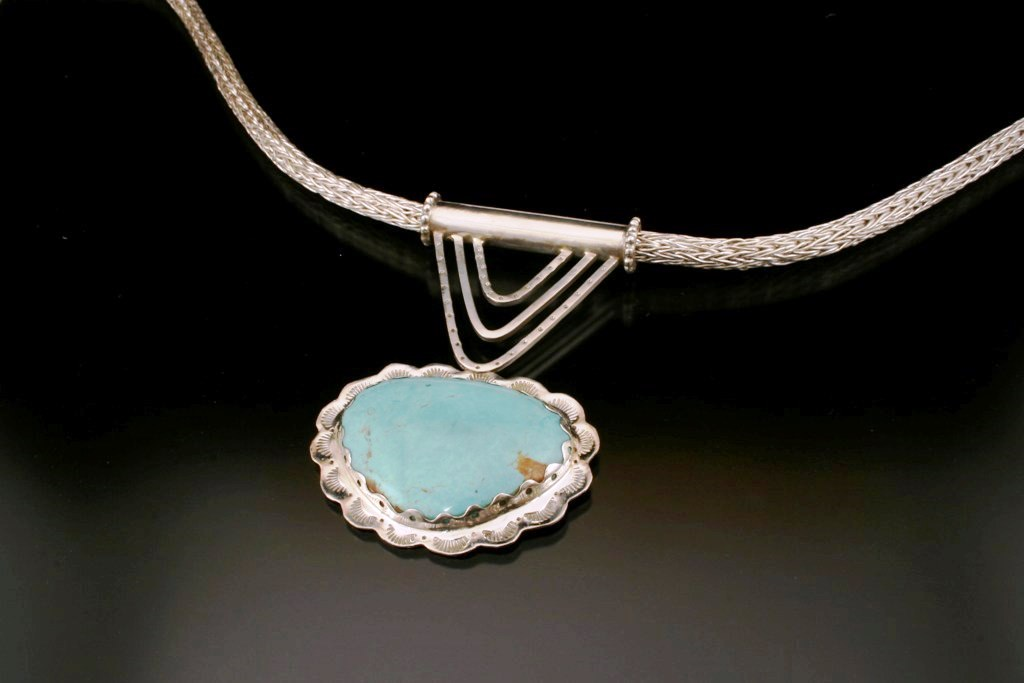 Roman Chain and Turquoise Pendant.jpg