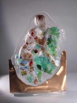 De Kooning's Woman in Cast Glass