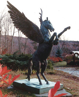 Bronze Pegasus Statue sculpted by artist David Klass