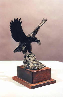 Eagle Landing in Bronze