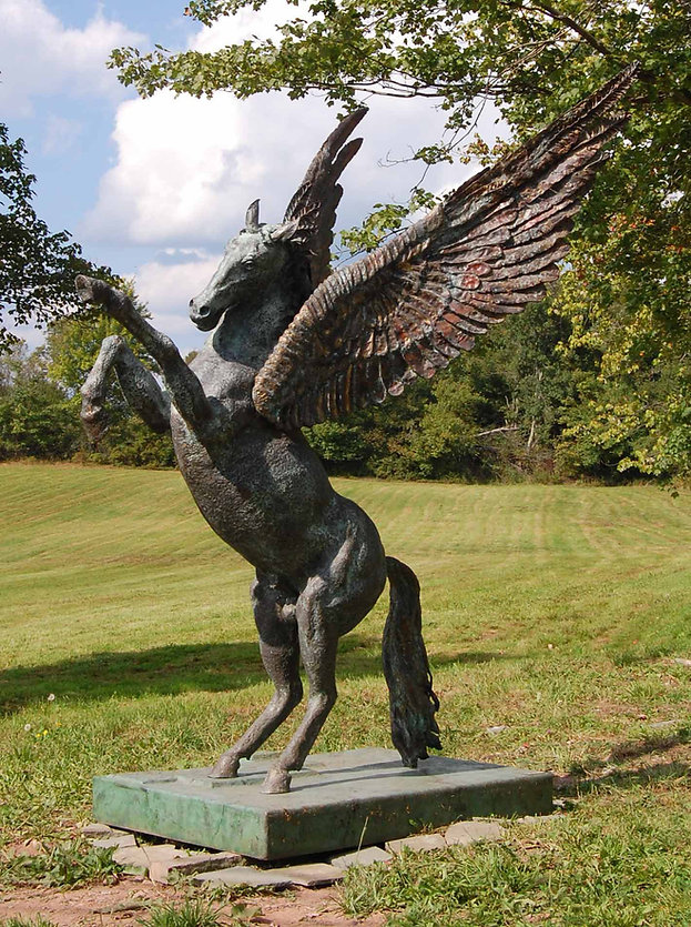 Monumental Bronze Pegasus Sculpture by artist David Klass