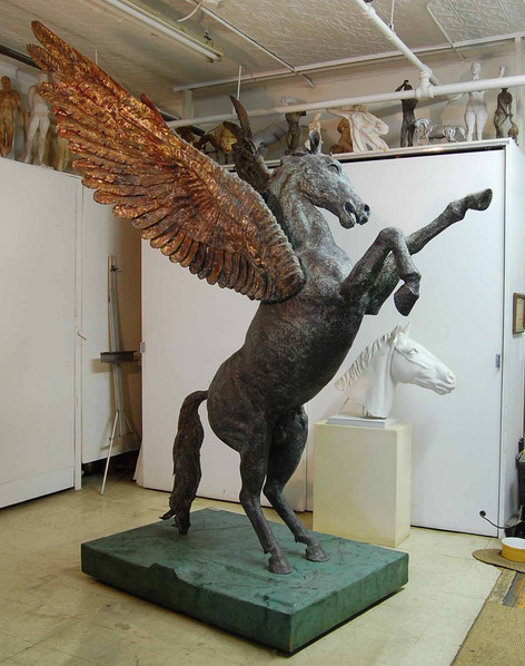 Pegaus, bronze horse sculpture 2