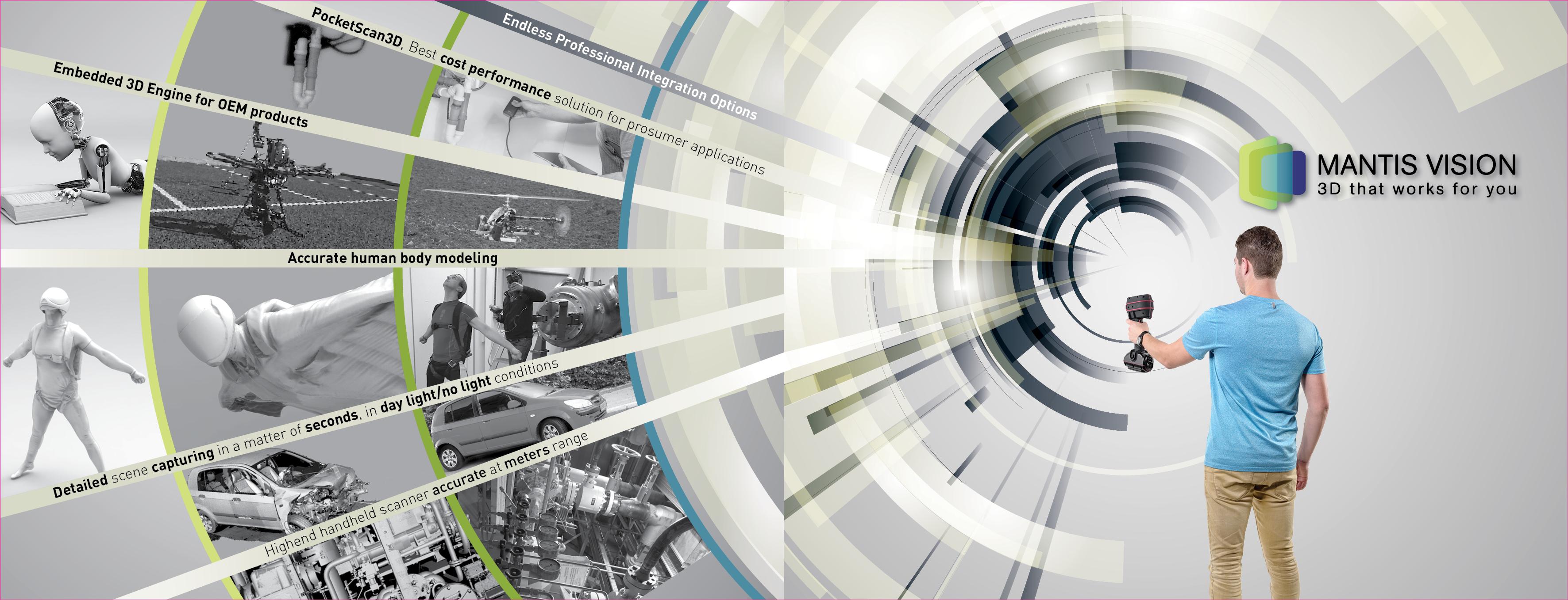 עיצוב קירות לתערוכה Mantis Vision