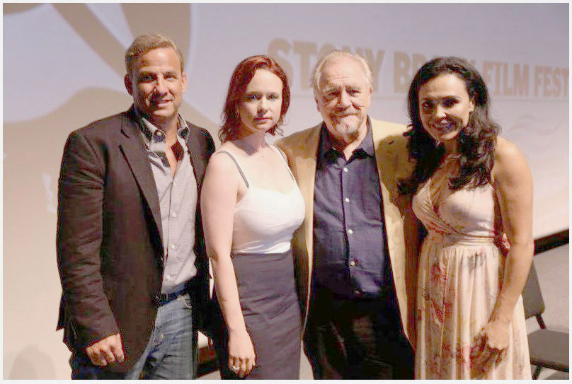 Alan Inkles Director of Stony Brook Film Festival Thora Birch Brian Cox & Sandra Santiago from THE ETRUSCAN SMILE photo by Nick Koridis