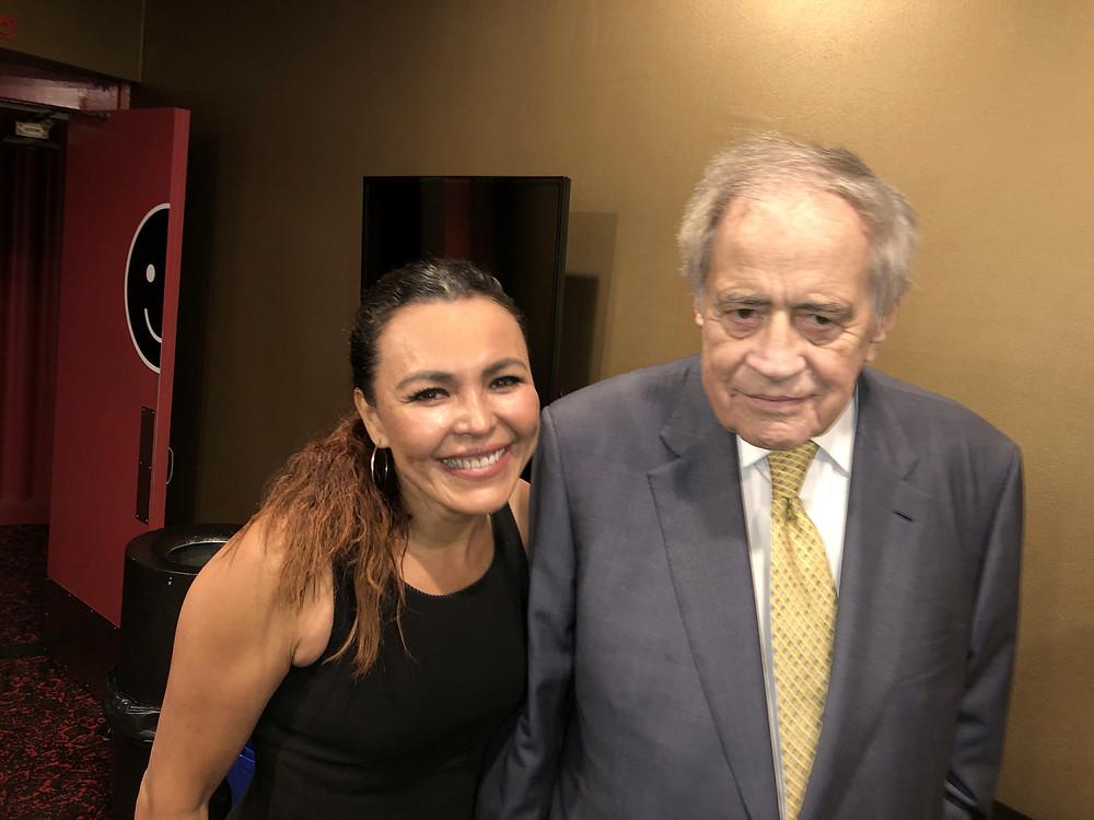 Sandra Santiago and Arthur Cohn The Etruscan Smile Premiere at The Writer Guild LA.
