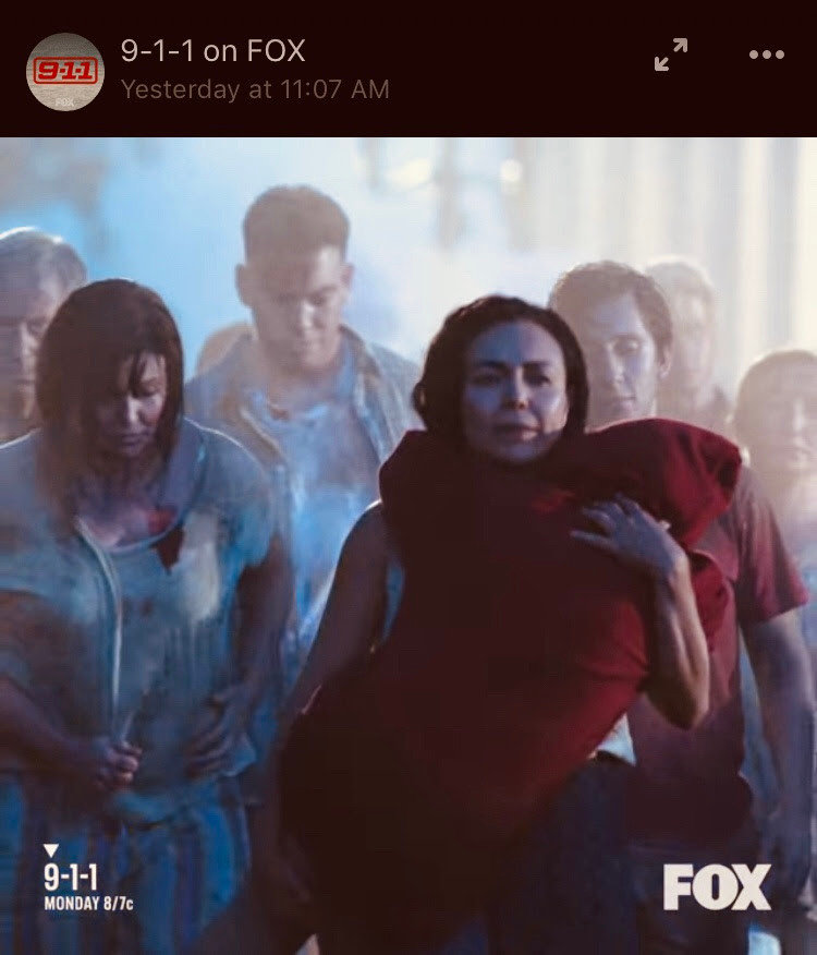Actress Sandra Santiago guest starring  9-1-1 TV Show Fox Now on Demand