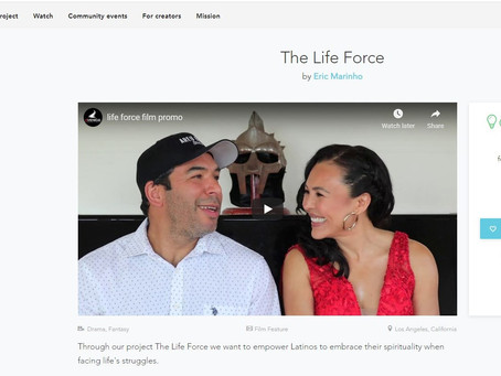 THE LIFE FORCE IS AN UPCOMING FILM THAT EMPOWERS LATINOS FACING SPIRITUAL STRUGGLES.