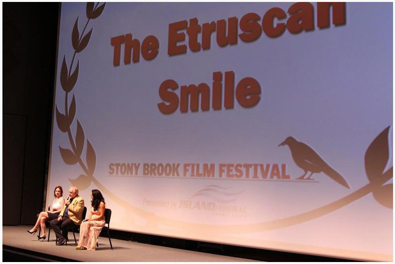 Thora Birch Brian Cox & Sandra Santiago from THE ETRUSCAN SMILE Q&A photo by Nick Koridis