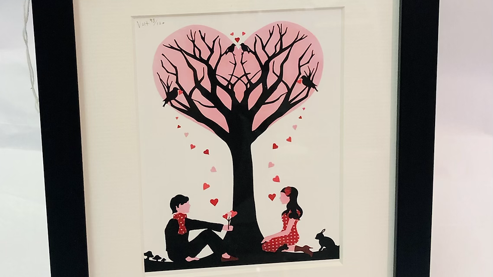 'Tree of Love ' framed limited edition print