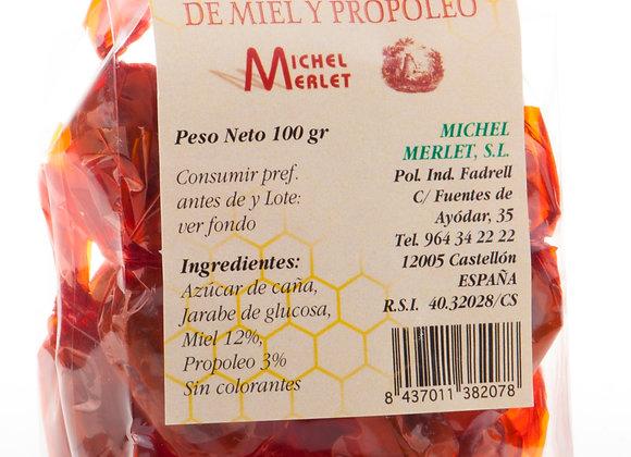 Caramelos rellenos de miel y propóleo 100 g