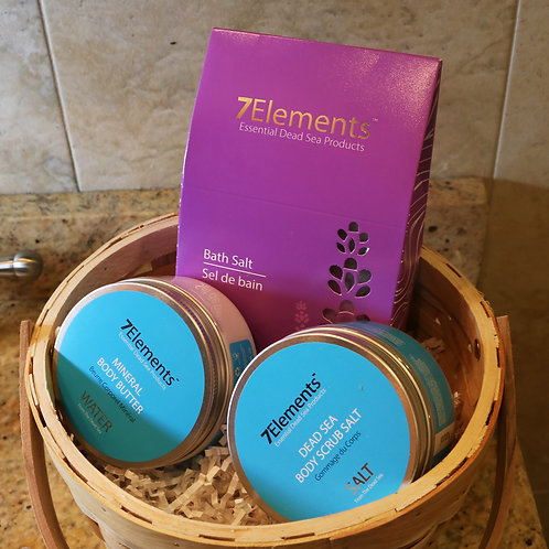7Elements Dead Sea Minerals Bath Gift Basket