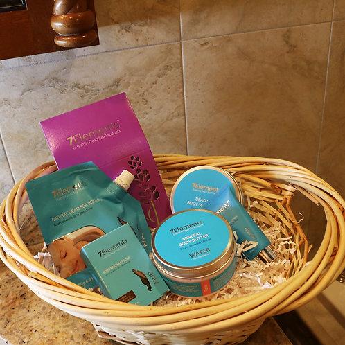 7Elements Dead Sea Minerals Body Gift Basket