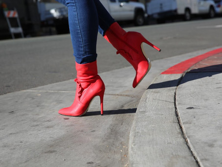 Amara- (Red) Ankle Boots From Shoe Dazzle