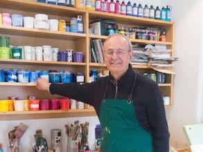 Giuseppe in his studio