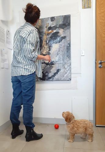 Studio shot with Eva and Louis