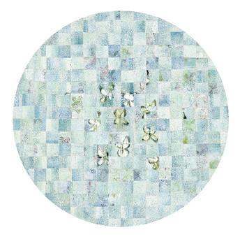 Checkered Green Round
