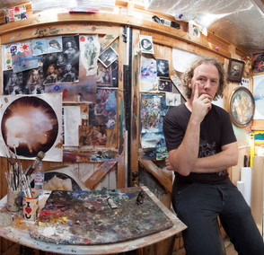 Christian Furr in his Studio