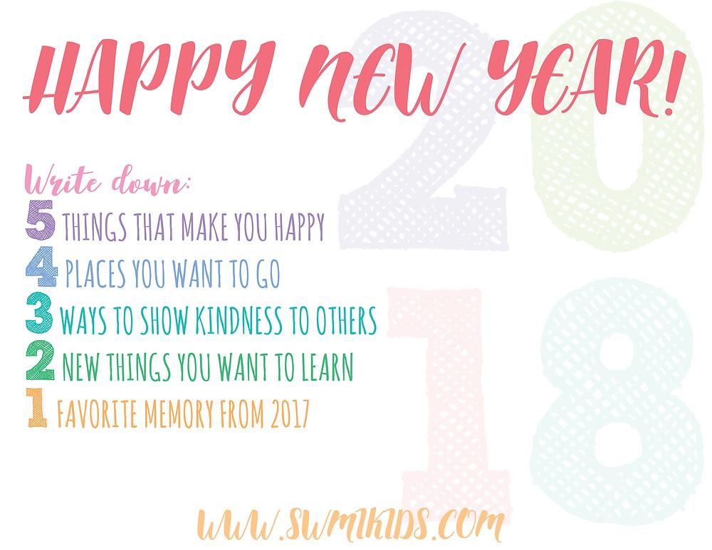 New Year Resolution Printable   Southwest Michigan Kids