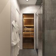 3 этаж.  Ванная и сауна. Вид 5