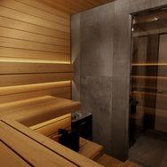 3 этаж.  Ванная и сауна. Вид 1