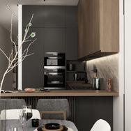 1 этаж.  Обеденная зона с кухней. Вид 3