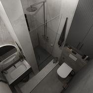 1 этаж.  Гостевой санузел и постирочная. Вид 1