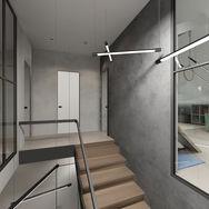 3 этаж.  Лестница и общее пространство. Вид 3
