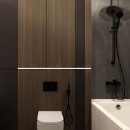 2 этаж.  Хозяйская спальня. Ванная. Вид 1