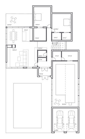 Вилла на берегу Сочи план первого этажа