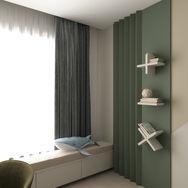 2 этаж.  Спальня для мальчика. Вид 1
