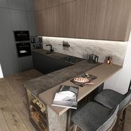 1 этаж.  Кухня. Вид 1