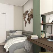 2 этаж.  Спальня для мальчика. Вид 5