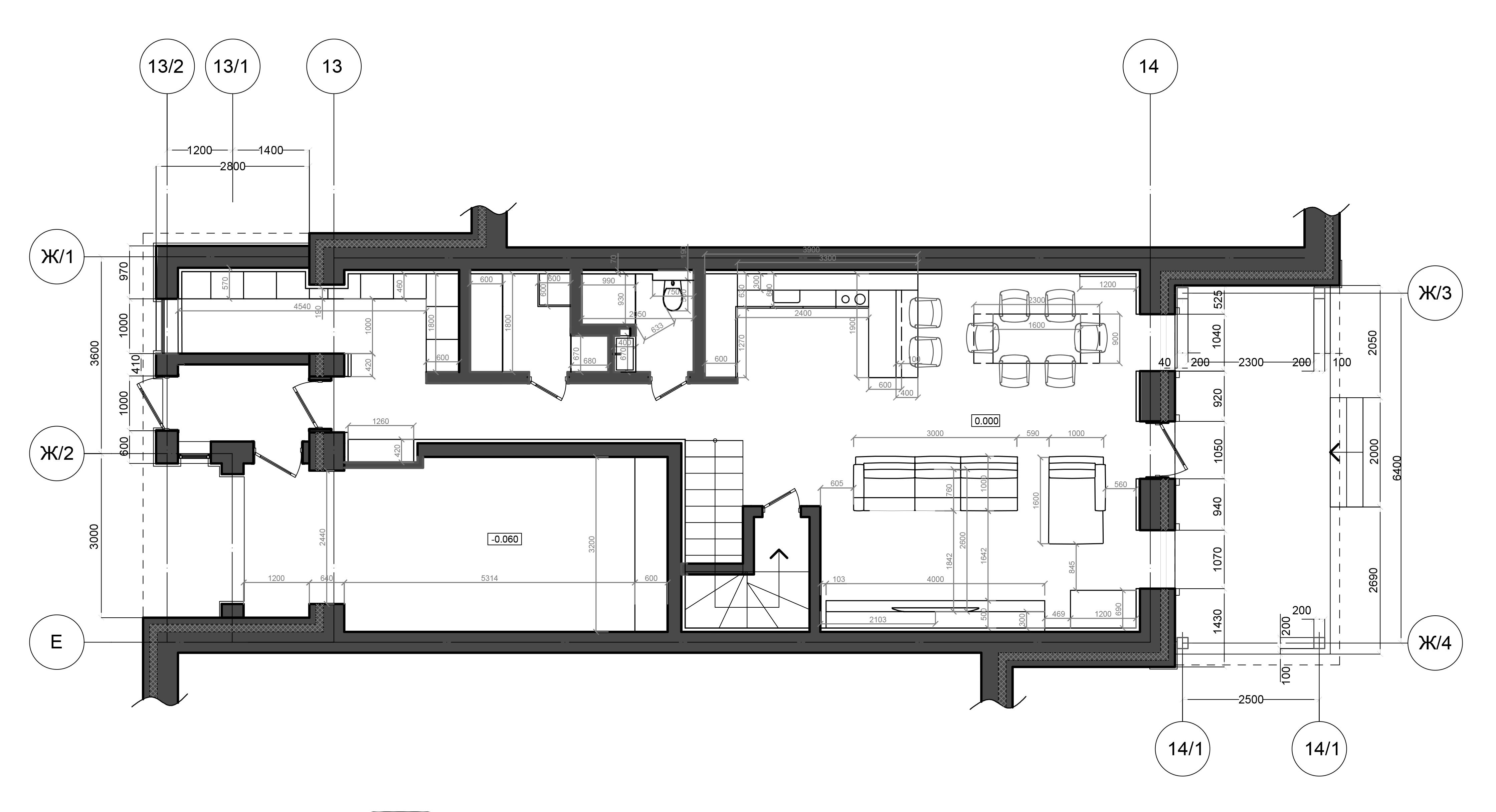 ! Планировочное решение 1 этаж