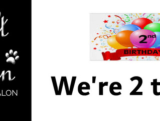 We're 2 today!!