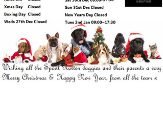 Xmas & New Year Opening Hours Chalfont & Pinner