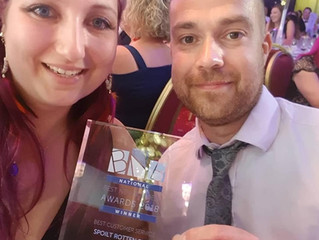 We WON Best Customer Service National Business Award this week!!
