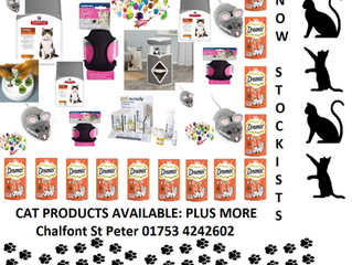 Cat products now in stock @ Chalfont St Peter