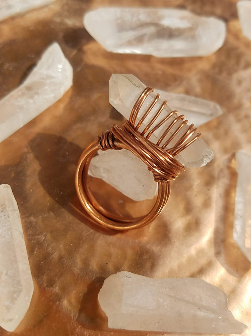 Nested Wrap Quartz Ring