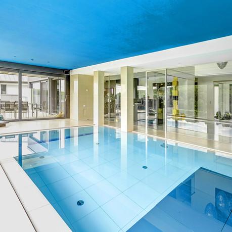 Take a dip in the heated pool