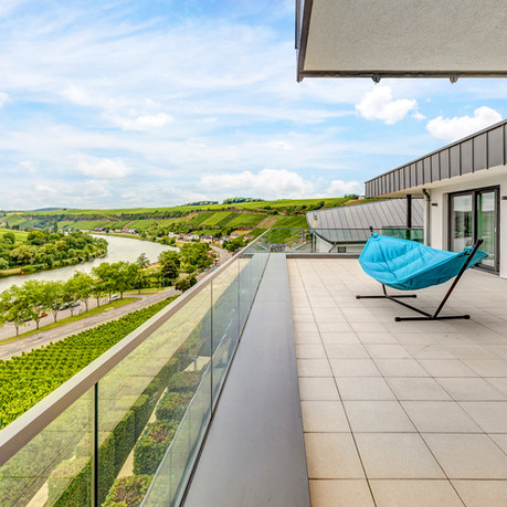 Unlimited views of the vineyards, Luxembourg and Germany