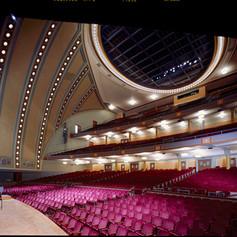 UofM Hill Auditorium Interior Right stag